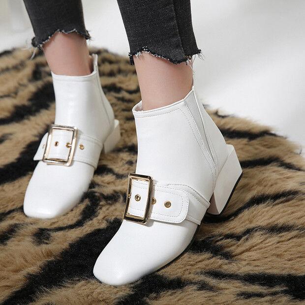 stivali stivaletti bassi scarpe anfibi 4 cm bianco eleganti simil pelle 9441