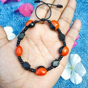 Black jet Beads Necklace and Bracelet Azabache Unisex Evil Eye Lucky Fortune