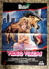 VIDEO VIXENS / Black Socks * VIDEO-POSTER A1 - German 1-Sheet ´88
