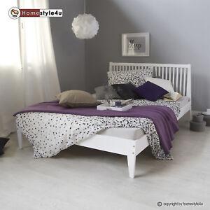 doppelbett holzbett bettgestell futonbett 140x200 wei. Black Bedroom Furniture Sets. Home Design Ideas