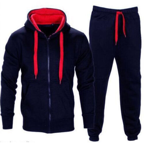 2Pcs Men/'s Hoodies Sweatshirt Pants Tracksuit Set Bottoms Sport Jogging Suit Gym