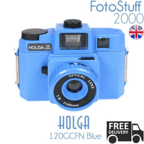 Holga 120 GCFN-ser Azul lomo medio formato cámara de película Color Flash Reino Unido Stock