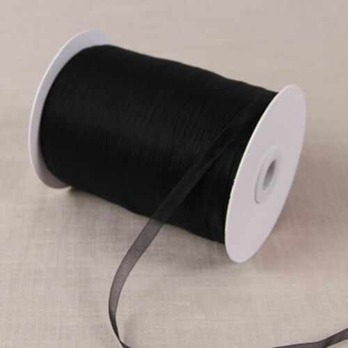 5 METERS 6 MM//1//4 IN WIDTH ORGANZA BOW SATIN EDGE SHEER RIBBON 6 COLS AVAILABLE.