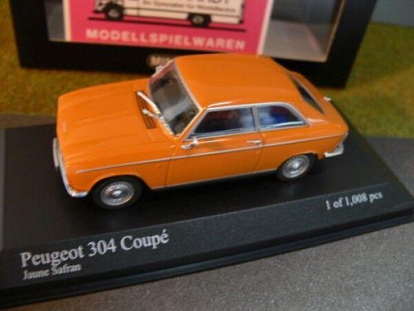 1 43 Minichamps  Peugeot 304 Coupe 1972 Orange  livraison rapide