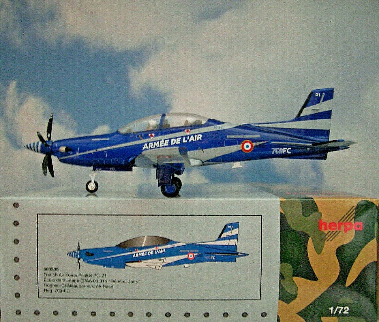Herpa Ali 1 72 Pilatus Pc-21 French French French Aeronautica 709-fc + Display Stand 580335 b1241f