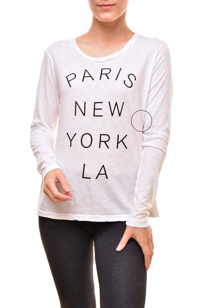 Sundry donna PARIS Nuovo York LA MANICA LUNGA T-SHIRT BIANCA M Prezzo Consigliato  124 BCF810