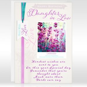 Image Is Loading DAUGHTER IN LAW BIRTHDAY GREETING CARD FLOWERS Personalised
