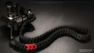 Kamera Tragegurt für Leica SL SL2 und S | Schwarz Rot | Rock n Roll Camera | 125
