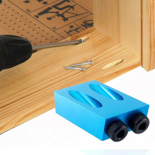 Pocket Hole Jig 15° Angle 6//8//10mm Adapter Drill Guide Woodworking Adapter BU
