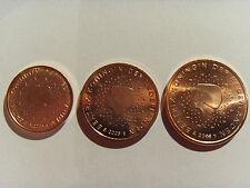 1+2+5 Euro cent Olanda Pays-Bas Nederland Paesi Bassi 2005 FDC UNC da rotolino