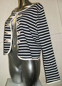 Yumi-Womens-Symira-Stripe-Jacket-Womens-Top-Womens-Cardigan-RRP-50-Size-m