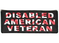 (l26) Disabled American Veteran 10 X 4 Iron On Back Patch (4760) Biker