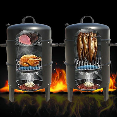 SMOKER BARBECUE BBQ CHARCOAL GRILL GARDEN COOKER CAMPING HEAT INDICATOR OUTDOOR