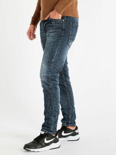 Jeans Délavé A Taille Basse Homme