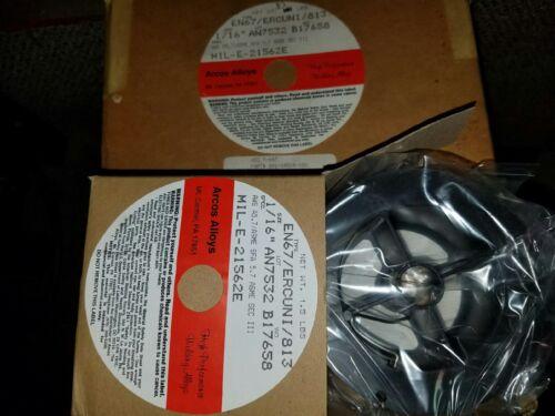 """Arcos 67 Nickel 813 ERCuNi 1//16/"""" 1.5lb Spool Gun Mig Welding Wire Machine Welder"""