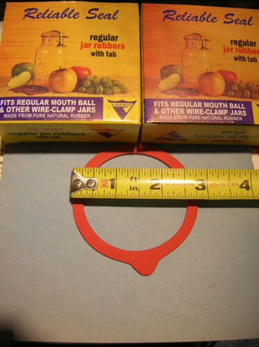 2 dozen Viceroy red widemouth with tabs Canning Jar Replacement Rubber Rings