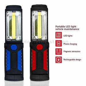 Main-Torche-COB-LED-Rechargeable-Lampe-d-039-inspection-Travail-Portable-Magnetique