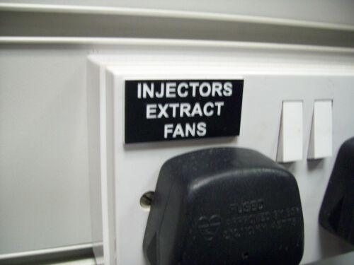 control panels etc workroom Bespoke Engraved Labels /& small signs for boat