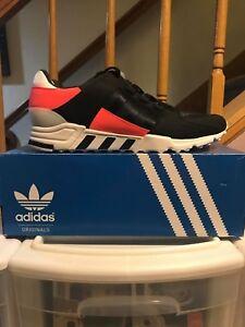 buy popular 77f28 3ac0d Image is loading adidas-Originals-EQT-Support-RF-Sneakers-Black-Turbo-