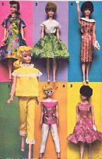 Vintage Doll Clothes PATTERN 2896 for 11.5 in Barbie Midge Francie  by Mattel