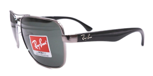 Image is loading Authentic-RAY-BAN-RB3483-00471-Sunglasses-Gunmetal-Dark- c37ccea56d