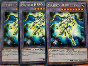 Yugioh Masked HERO Dian Rare TOCH 1st Edition Mint