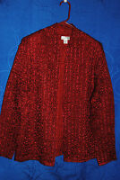 Womens RAFAEL Red Puckered/crinkled Stretchy Blazer Size M
