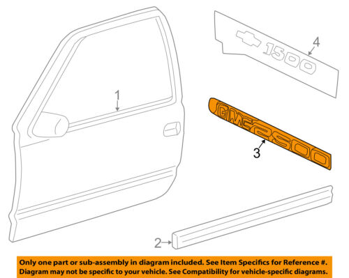 Chevrolet GM OEM Silverado 2500 HD Front Door-Emblem Badge Nameplate 15114051