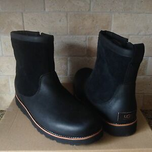 311f82aa0ee Details about UGG HENDREN TL BLACK WATERPROOF LEATHER WINTER WORK BOOTS  SIZE US 10 MENS