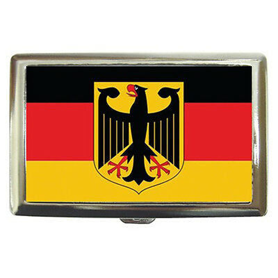 New Germany Coat of Arms Flag Cigarette Money Case Free Shipping