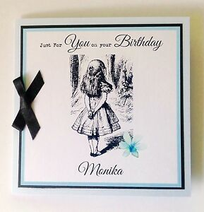 Image Is Loading Personalised Alice In Wonderland Birthday Card Mum Sister