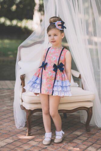 Vestido de niña Dolce Petit color coral-  Dolce Petit -  Colección DOLCE PETIT
