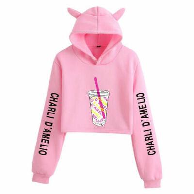 Hip Hop Rip Hoodie Casual Sweater Sweatshirt Charli D/'Amelio Damelio Iced Coffee