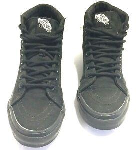 4 para Skateboarding Med mujer Wall Shoes Lona Vans The para 5 5 Top Hi Off hombre negra wZvYSXHRq