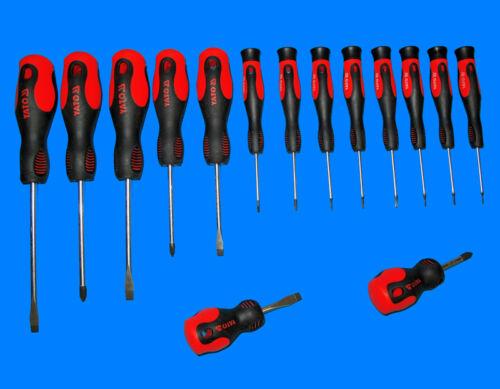 15 tlg ERGO Feinmechanik Elektronik Schraubendreher Kreuz Schlitz Torx Y2788