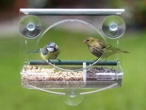 Window Bird Feeder Wild Bird Seed Feeding Table Squirrel Cat Proof Window Mount