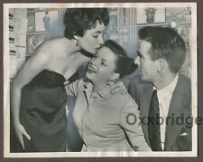 Elizabeth Taylor, Judy Garland, Montgomery Clift 1951 Candid On Set Photo J1492