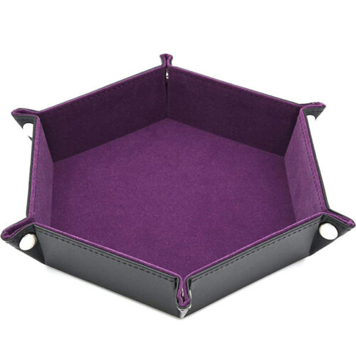 Faux Leather Dice Tray Collapsible Rolling Tray For Board Game Tray Plate GG