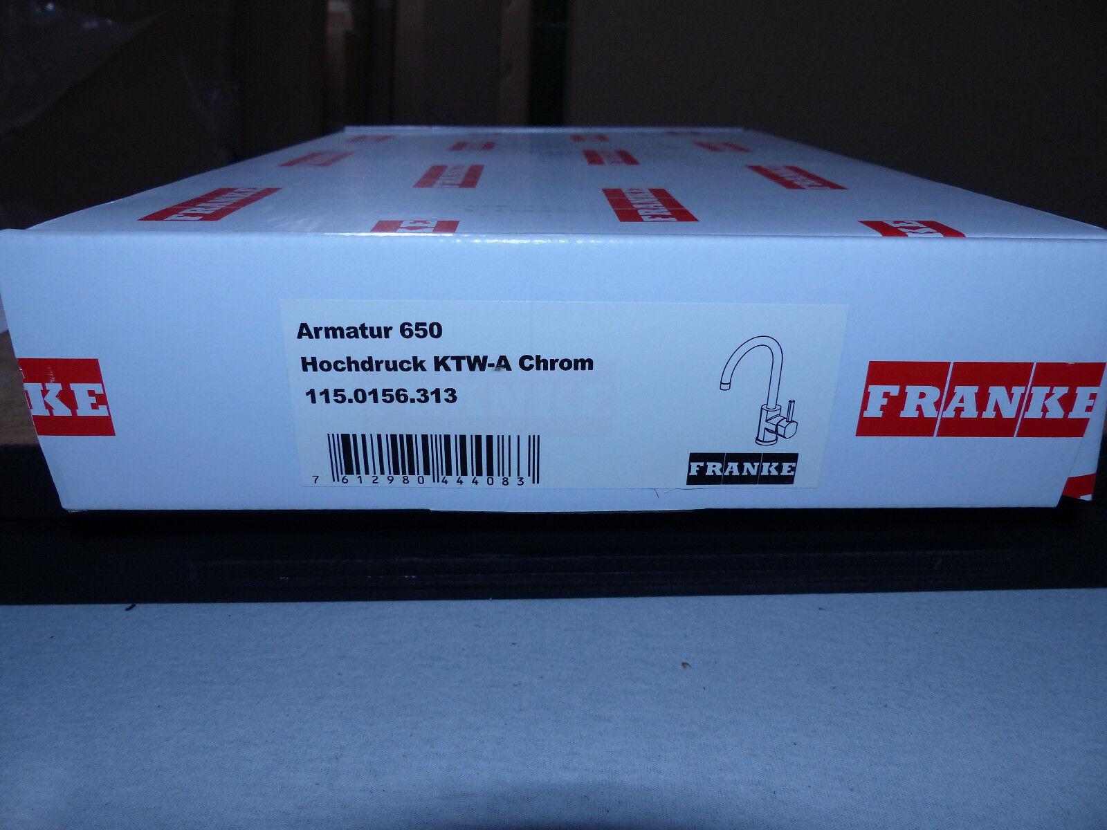 Küchenarmatur mit hohem Auslauf  Franke 115.0156.313 BAT 650 Chrom