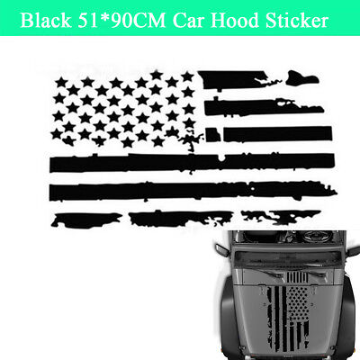 Universal USA Flag Style Car Truck Hood Engine Graphics Decal Sticker Waterproof