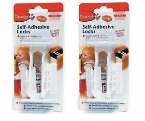 Clippasafe Self Adhesive Cupboard Amp Drawer Locks 2 4