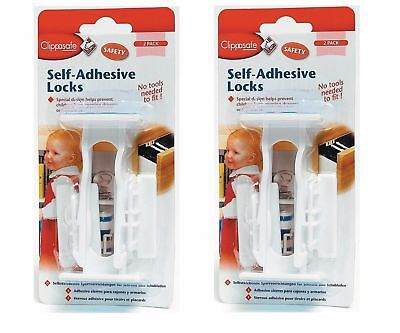 Clippasafe Self Adhesive Cupboard and Drawer Locks Baby Proofing Child Safety