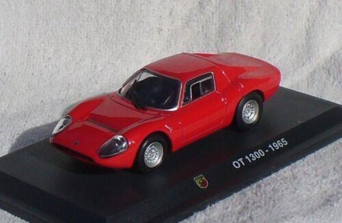 Die-cast Abarth OT 1300 rot 1965  1:43 Modellauto