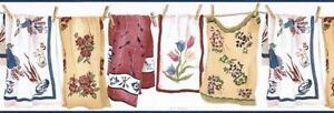 Wallpaper-Border-Laundry-Room-Country-Towels-on-Clothesline-with-Clothespins