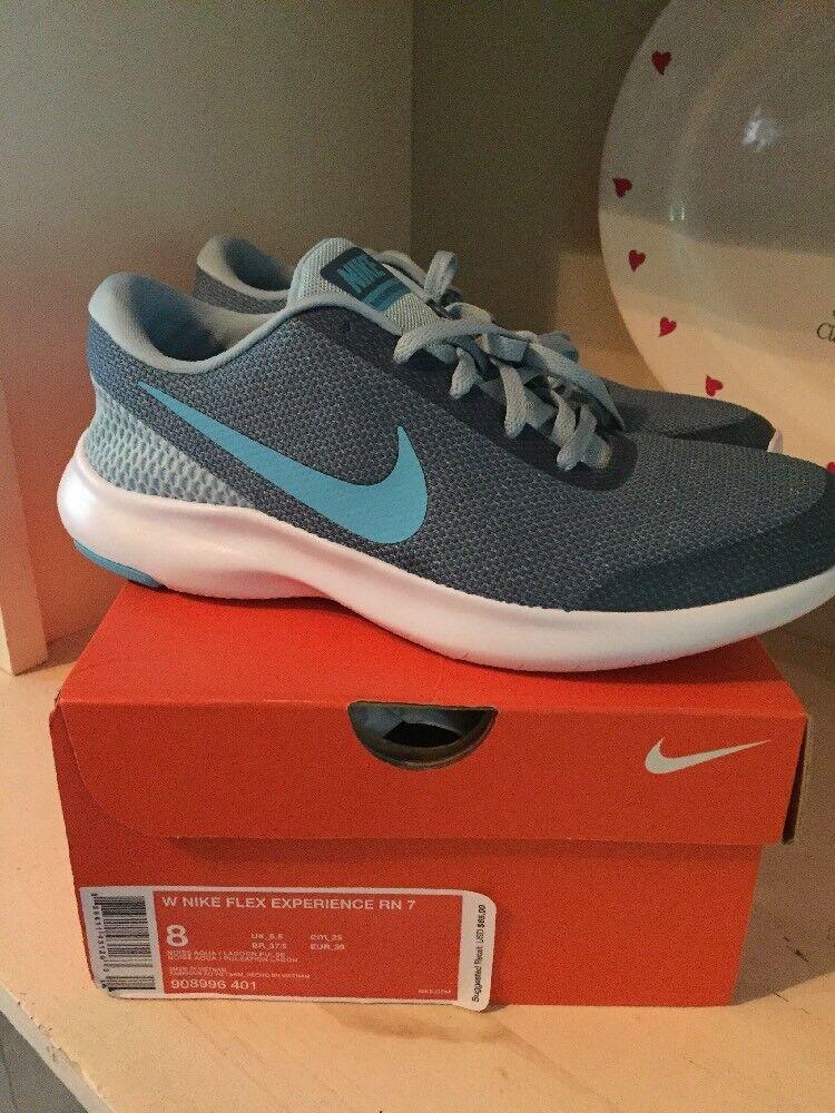 brand new ffb1d 73221 Nib Nike Flex Flex Flex Experience 7 Size 8 Women Shoes Aqua Blue 79a4e0