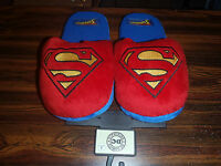 Superman Dc Plush House Slippers Adult Sizes With Tags