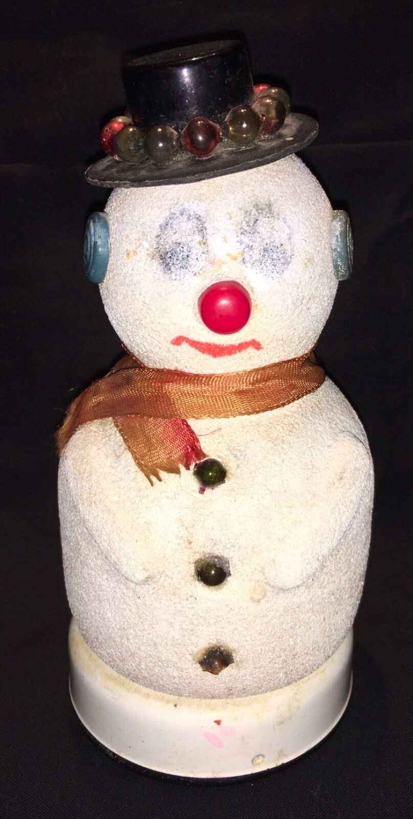 VINTAGE JAPANESE BATTERY OPERATED BLINKING SNOWMAN TOY