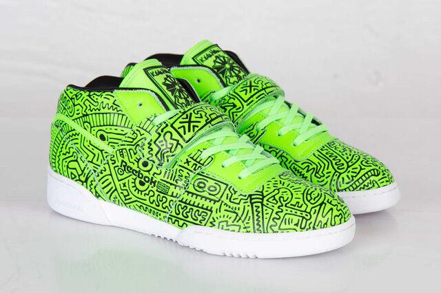 GR Nuovo Nuovo Nuovo Con Scatola Da Uomo Reebok Allenamento Medio Cinturino Trainer scarpa verde Keith Haring afa0a1