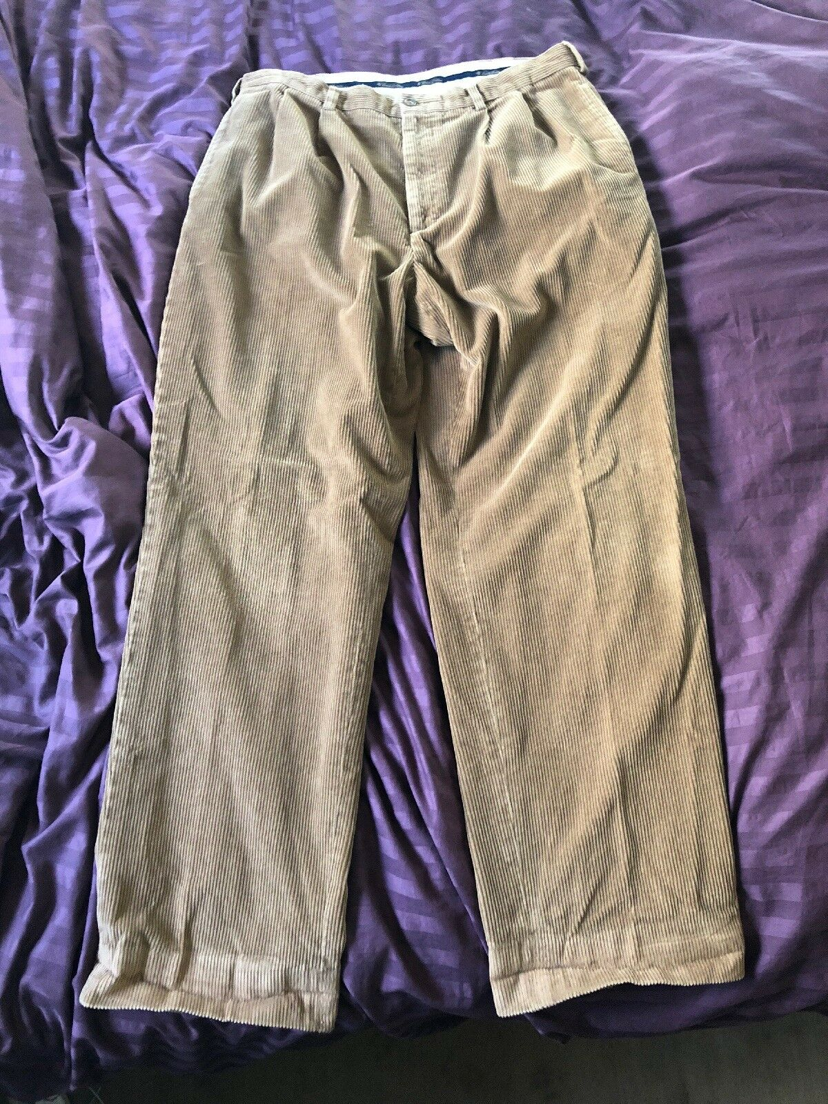 Brooks Bredhers Men's Khaki Brown Winter Corduroy Pants Waist 38x31.5 Cm8