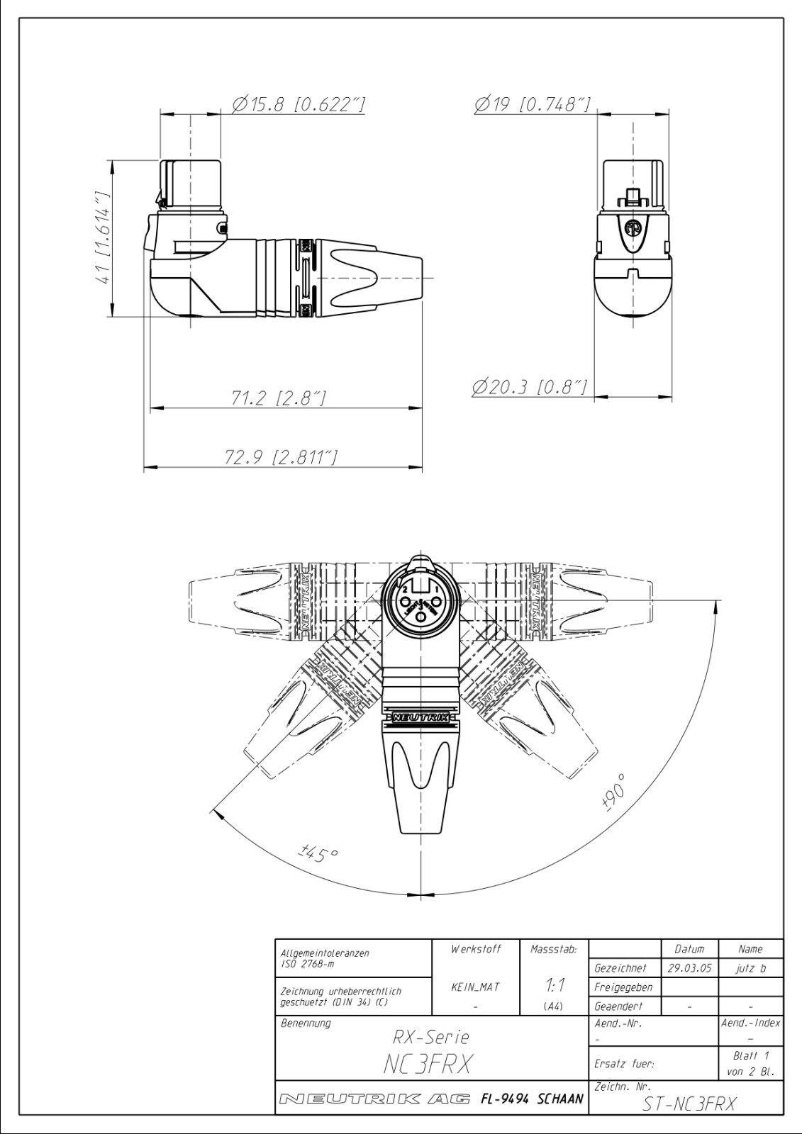 Lince Hembra XLR Neutrik ángulo personalizado a macho macho macho Cable de micrófono XLR. Parche De Plomo. ce769d